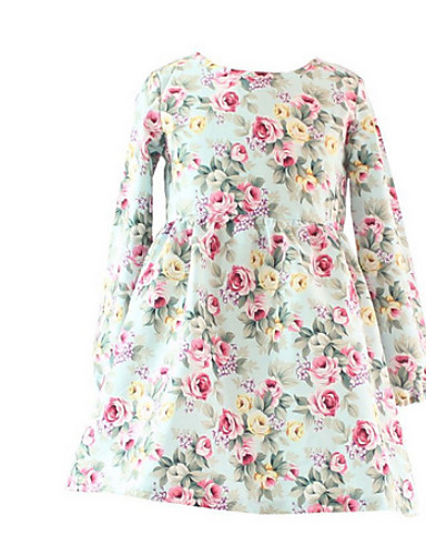 여자의 드레스봄 가을 면 긴 소매