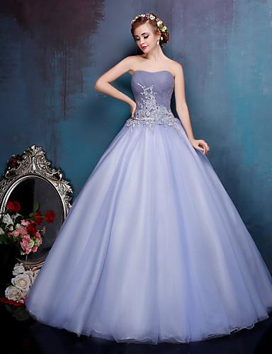 d7cff63d2 Princesa Vestido de Boda Vestidos Novia en Color Hasta el Suelo Corazón  Crepé   Encaje