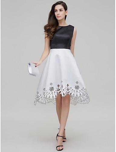 ts couture® cocktail party šaty řádku šperk asymetrické satén s ... 50fadea2da