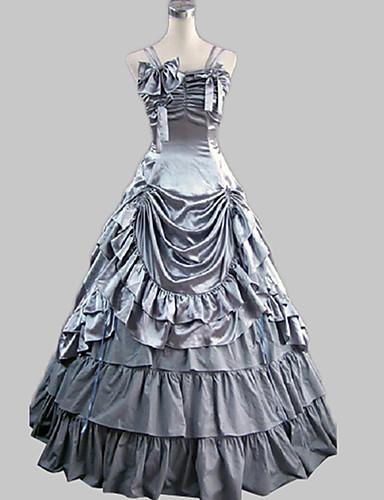 10a9b02a05 Rococo Victorian 18ος αιώνας Ντύσιμο φόρεμα Στολές Γυναικεία Φορέματα  Κοστούμι πάρτι Γκρίζο Πεπαλαιωμένο Cosplay Σατέν Πάρτι