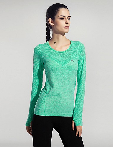 b968f203492af Women s Crew Neck Running Shirt Rose Red Green Blue Sports Sexy Tee   T- shirt Top Yoga Fitness Gym Workout Short Sleeve Activewear Breathable Quick  Dry ...