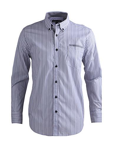 JamesEarl Muškarci Kragna košulje Dugi rukav Shirt & Bluza Crna Fade-DA112046026