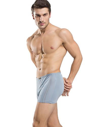 ieftine Lenjerie Bărbați-Bărbați Mată Chiloți Boxeri Bărbătești Talie medie