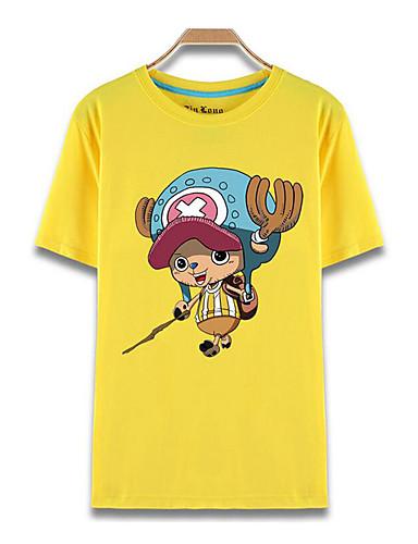 povoljno Anime kostimi-Inspirirana One Piece Tony Tony Chopper Anime Cosplay nošnje Japanski Cosplay majica Print Kratkih rukava Top Za Muškarci / Žene