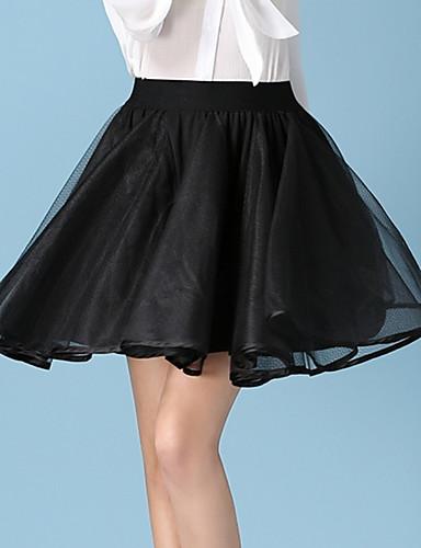 Damen Röcke - Sexy / Einfach Mini Acryl / Polyester Mikro-elastisch