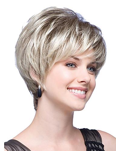 povoljno Ljepota i kosa-Sintetičke perike Ravan kroj Stil Bob frizura Perika Plavuša Plavuša Sintentička kosa Žene Plavuša Perika Kratko Halloween paru