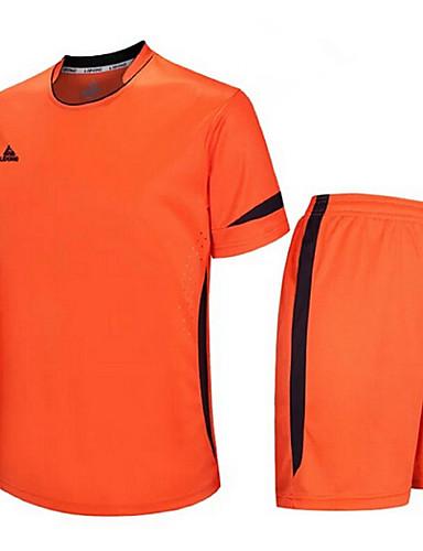 c55e472852e Men s Soccer Clothing Suit Breathable Quick Dry Exercise   Fitness Leisure  Sports Football   Soccer Terylene Orange Sky Blue