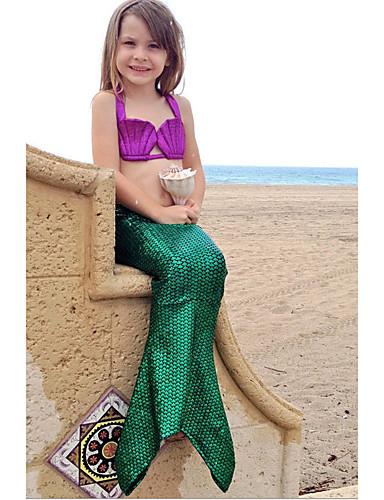 Mädchen Bademode Einfarbig Polyester Sommer Grün