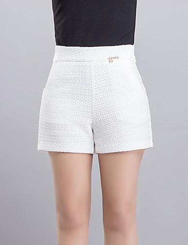 Femme Grandes Tailles Taille Haute Jeans Pantalon Couleur Pleine