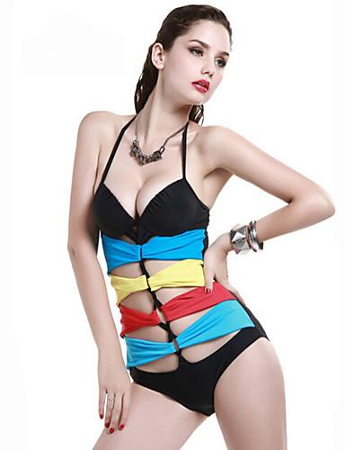 Kivág Megkötős Női Bikini / Egy részes Nejlon / Spandex
