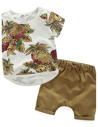 סט של בגדים דפוס כותנה קיץ הילד של