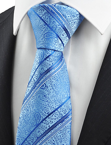 Herrn Party Büro Grundlegend, Baumwolle Kunstseide Polyester Hals-Binder Paisley-Muster