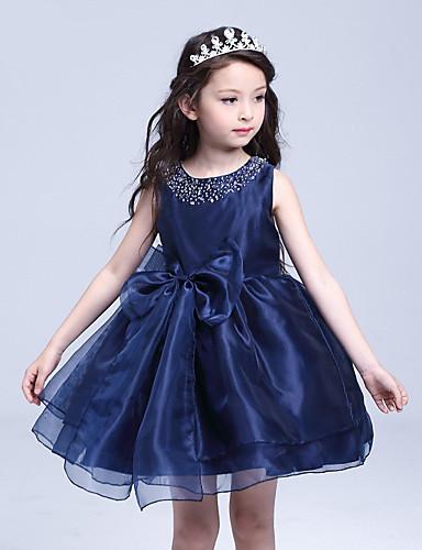 Une robe à rayures en ligne avec une genouillère en coton - bijoux en coton sans organza en coton avec perle (s)