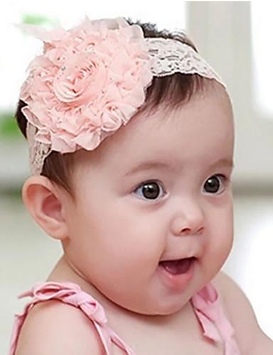 Accessoires Cheveux Toutes les Saisons Tweed Bandeaux Fille - Blanc Rose