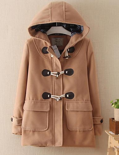 Damen-Solide Grundlegend Mantel