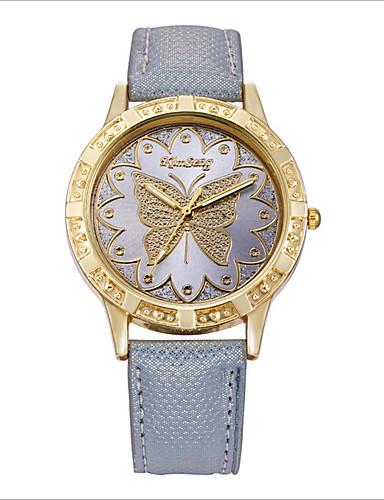 Mulheres Relógio de Moda Quartzo Digital Relógio Casual PU Banda Preta Branco Laranja Cinza Rosa Roxa Rose