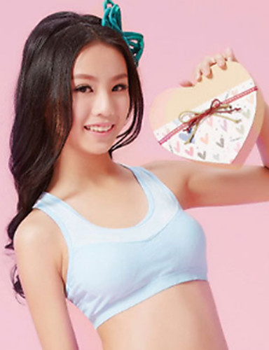 eb09d75af XLY Development Puberty Teenagers Girl s Comfortable Cotton Wireless Sports Bra  Underwear. Item. Thin Cup