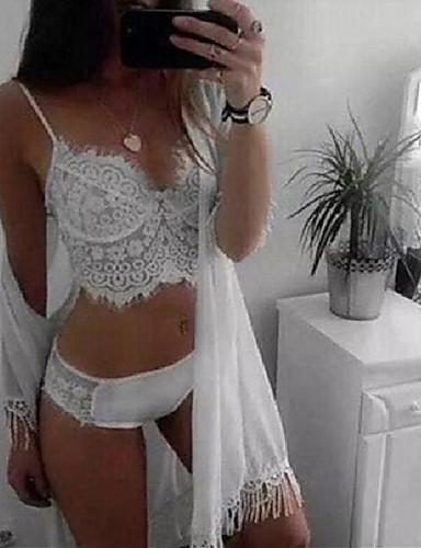 Mujer Encaje Sexy Lencería de Encaje / Ultrasexy Ropa de dormir - Borla Un Color