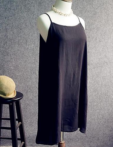 Satin & Soie Vêtement de nuit FemmeMoyen Coton Blanc Violet Bleu Vert Orange Rouge Noir