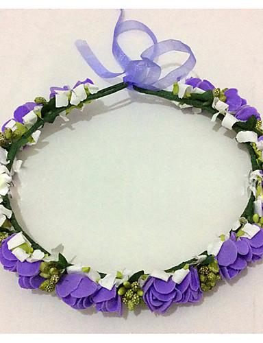preiswerte Blumenmädchen-Schaumkränze Kopfschmuck Hochzeitsparty elegante klassische weibliche Stil