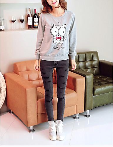 Dame Plusstørrelser Sweatshirt Trykt mønster
