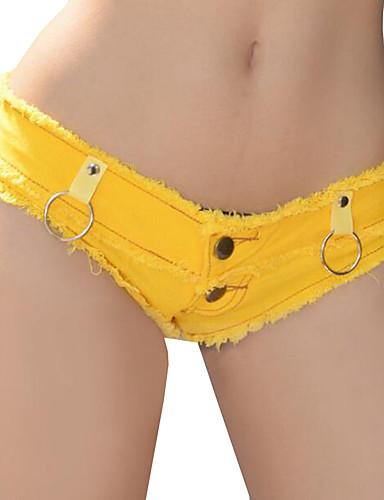 Dames Sexy Lage taille Micro-elastisch Jeans Broek Polyester, Effen Zomer