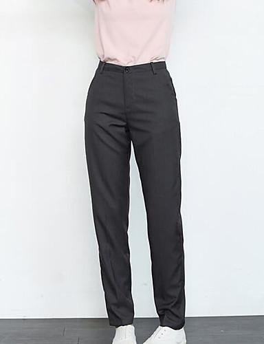 Dame Afslappet Uelastisk Harem Jeans Bukser, Højtaljede Bomuld Polyester Ensfarvet Vinter Efterår