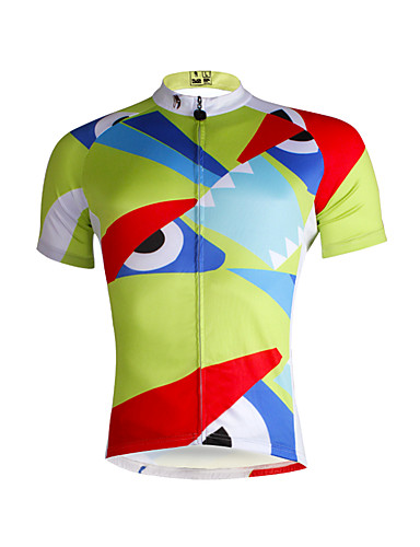 cheap Cycling Clothing-ILPALADINO Men's Short Sleeve Cycling Jersey - Light Green Bike Jersey Top Breathable Quick Dry Ultraviolet Resistant Sports 100% Polyester Mountain Bike MTB Road Bike Cycling Clothing Apparel