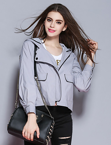 sybel kvinders gå ud / afslappet / vinter jakker, fast hætte langærmet polyester medium