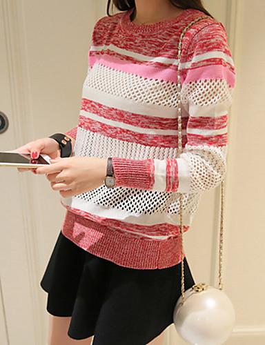 Dame Fritid Gatemote Pullover - Stripet