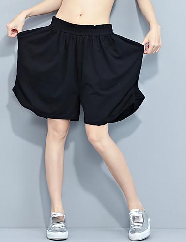 Kvinders Simpel Løse Bukser Mikroelastisk Polyester / Nylon