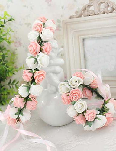 preiswerte Blumenmädchen-Schaumstoff Kopfschmuck-Hochzeit Besondere Anlässe Freizeit im Freien Kränze 1 Stück