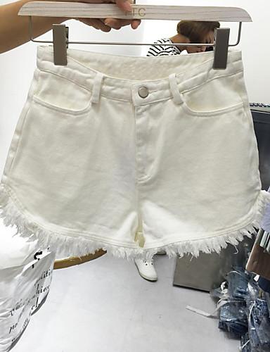 Kvinders Simpel Shorts Bukser Mikroelastisk Bomuld
