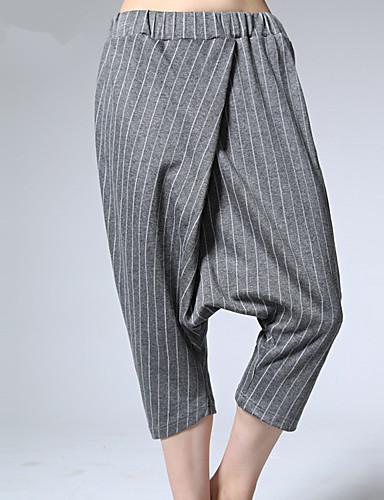 ARNE® Feminino Cintura Alta Harém Cinzento Casual Calças-B079