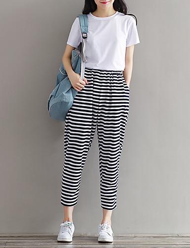Kvinders Simpel Chinos Bukser Mikroelastisk Polyester / Nylon