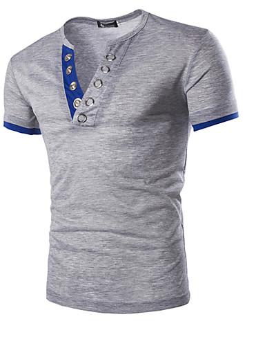 Herrn Solide Sport Baumwolle T-shirt