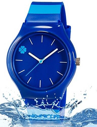Reloj de Pulsera Cool / Colorido Plastic Banda Hojas / Caramelo / Casual Azul