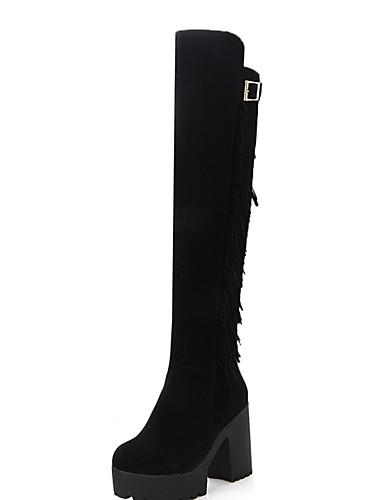 Støvler-Syntetisk laklæder Kunstlæder-Plateau Modestøvler Originale Cowboystøvler Snowboots Ridestøvler-Damer--Bryllup Kontor Work &