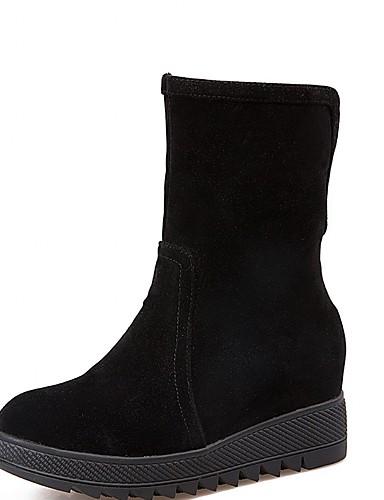 Mulheres Sapatos Courino Couro Envernizado Sintético Primavera Outono Inverno Coturnos Curta/Ankle Botas de Moto Botas da Moda Botas de