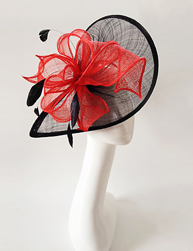 abordables Chapeau & coiffure-plumes de lin fascinators bandeau élégant style féminin classique