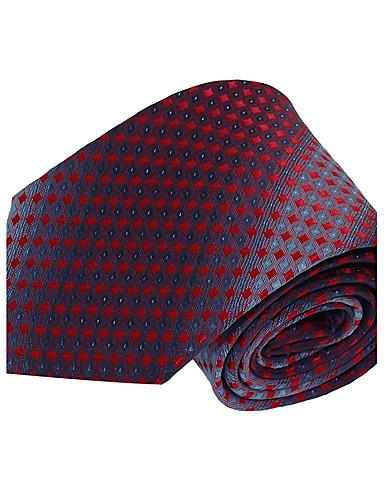 Masculino Gravata Vermelho,Vintage / Festa / Trabalho / Casual Listrado Poliéster Todas as Estações