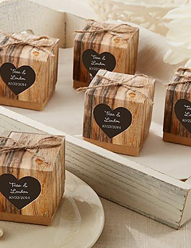 Kreativ Quader Kartonpapier Geschenke Halter mit Muster Geschenkboxen Geschenktaschen Zuckertüten Plätzchen Beutel Geschenk Schachteln