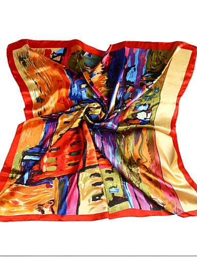 Dames Vintage Feest Werk Informeel Alle seizoenen Polyester Print  Vierkant