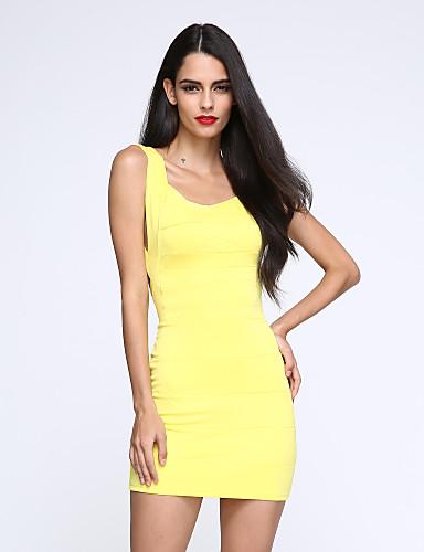 Women's Backless Sexy V Neck Backless Bodycon Mini Dress