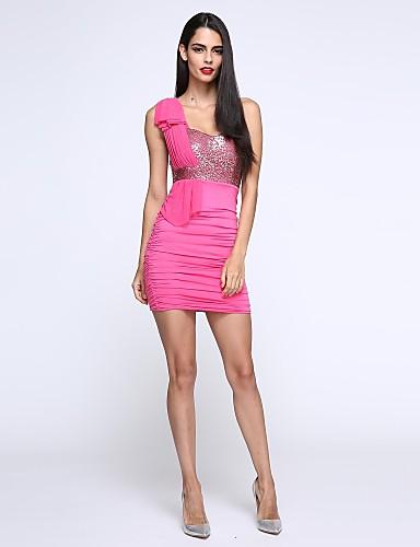 Платье - До колена - Полиэстер - Секси/Облегающий