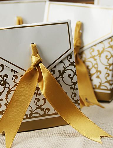 12 stk / sett favørholder - kreativt kortpapir favør bokser ikke-personlig bedre gaver bryllupsfesten dekorasjoner