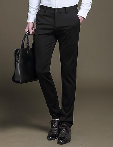 Pánské Jednoduchý Šik ven Retro Mikro elastické Oblek Kalhoty chinos Kalhoty Štíhlý Rovné Low Rise Čistá barva Jednobarevné