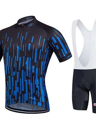 bea9b300c Fastcute Men s Short Sleeve Cycling Jersey with Bib Shorts - Black Gradient  Plus Size Bike Bib Shorts Jersey Bib Tights Breathable 3D Pad Quick Dry ...