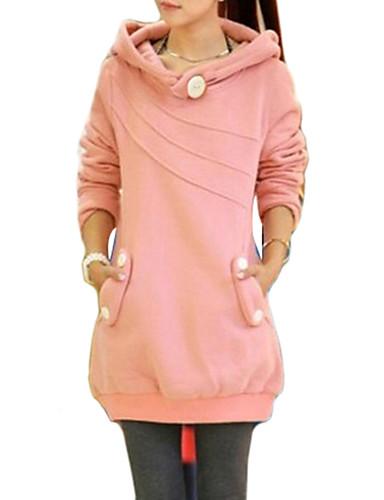 Bluzka Moda miejska Jesień Codzienny Okrągły dekolt Jendolity kolor Patchwork Długi rękaw Bawełna Akryl