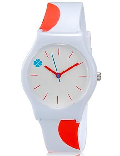 Reloj de Pulsera Cool / Colorido Plastic Banda Caramelo / Casual Naranja